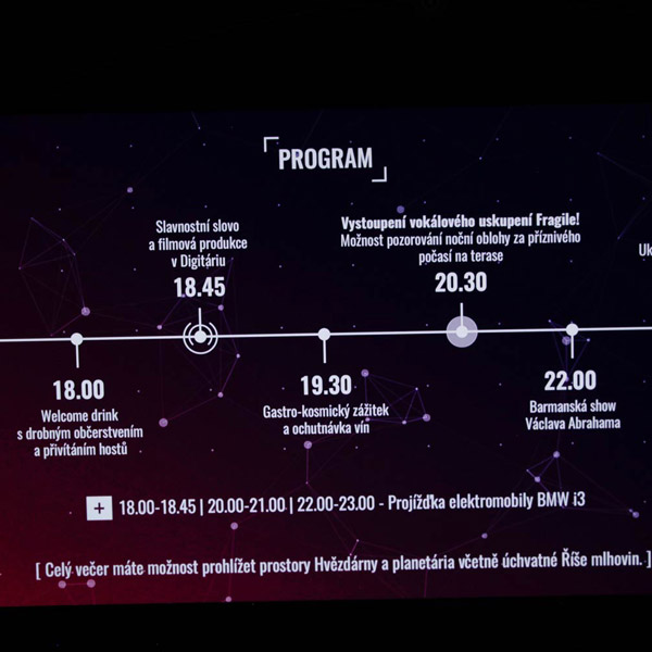 Picture of the K-net 25 let party: the program