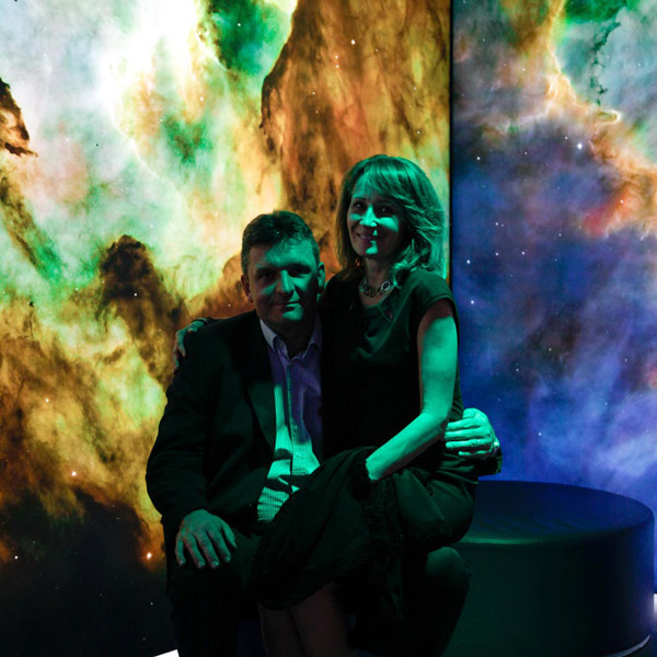 Picture of the K-net 25 let party: people who are sitting in the Empire of nebulae